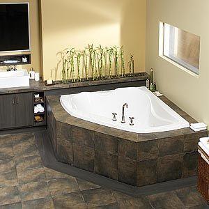 Beautiful Corner Soaking Tub: