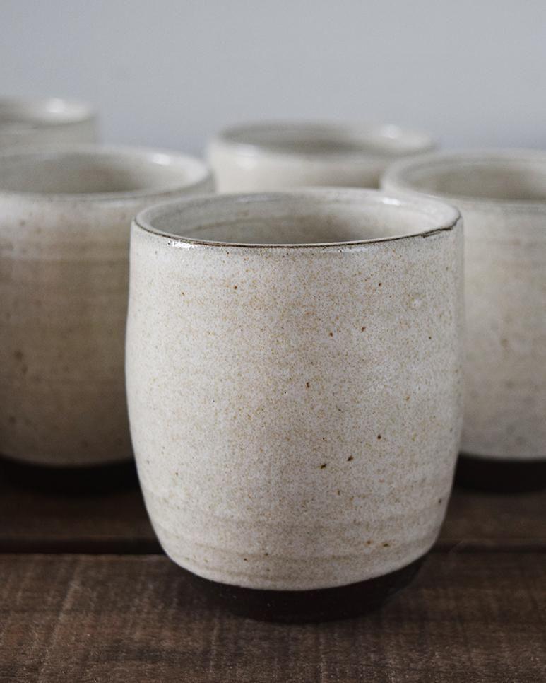Chalk White Ceramic Beaker Large Handcrafted Ceramics Ceramics White Ceramics