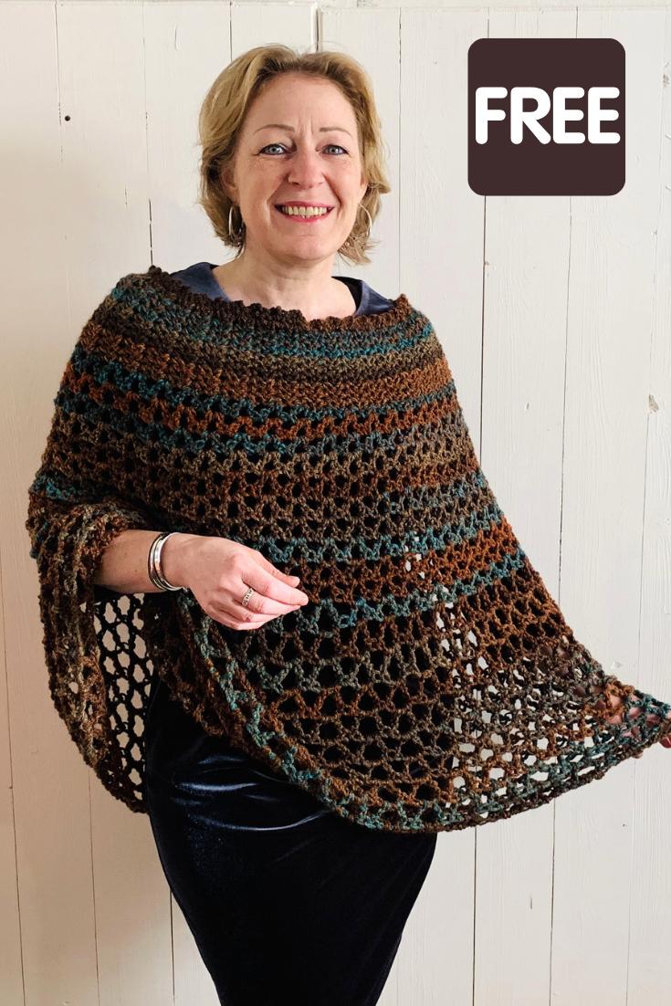 Poncho crochet pattern - free crochet pattern by Wilmade