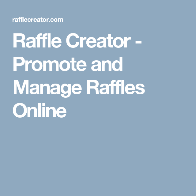 raffle drawing online