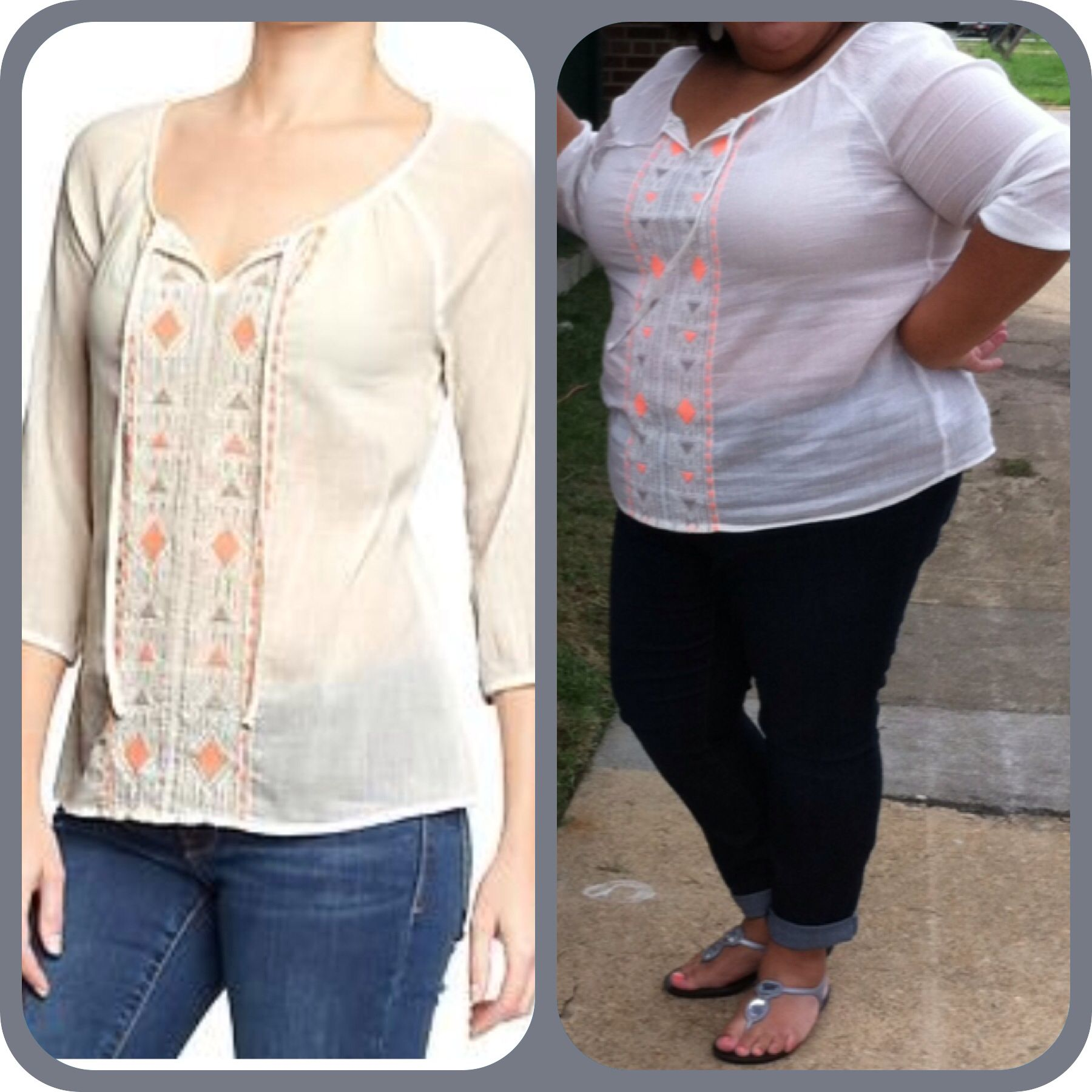 2014 outfit inspiration - old navy womens guaze/crepe tunic
