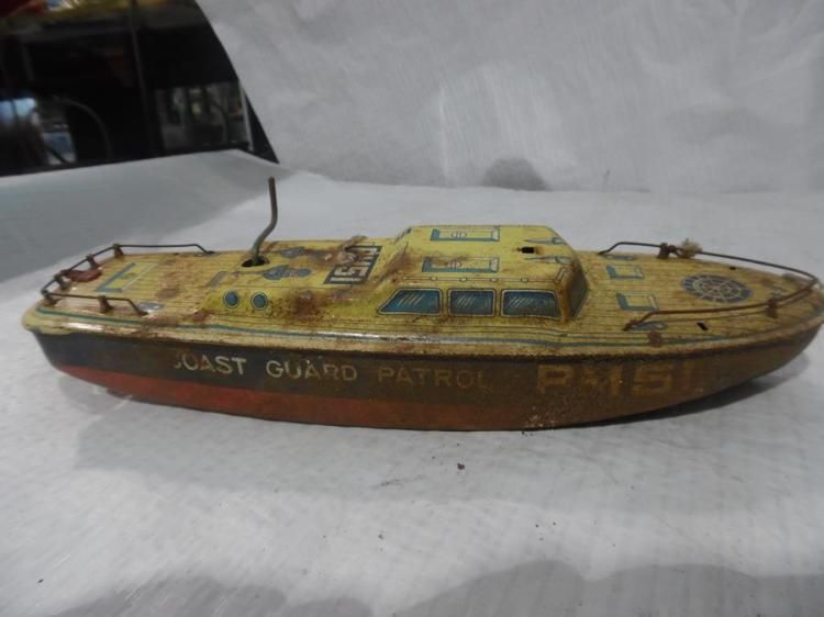 Coast Guard Patrol Metal Wind-Up Toy Boat | Back in the day ...