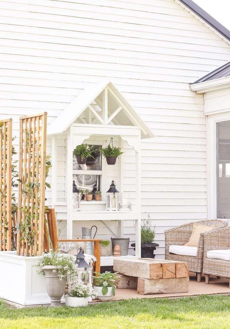 Jardiniere Avec Treillis Exterieure A Realiser Soi Meme Jardins Et