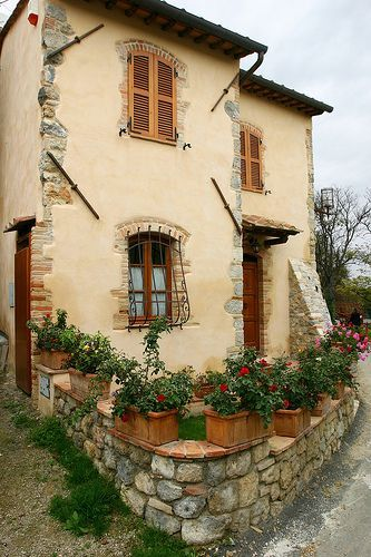 Stone Plaster Exterior Cottage Google Search Tuscan Style Tuscan Decorating Tuscan Design