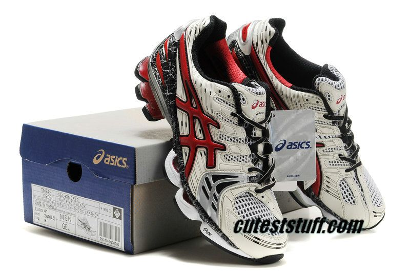 ae9aa8a1bfac Asics Gel Kinsei 2 White Red Black 0208