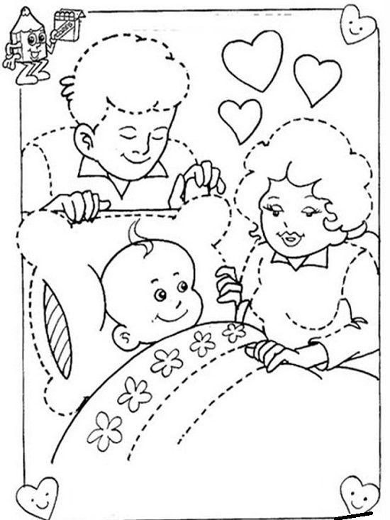 Día-de-la-Familia-para-colorear-imprimir-2.jpg (550×733) | família ...