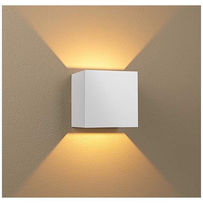 Bruck Qb 4 1 2 H White Led Wall Sconce 11p31 Lamps Plus Led Wall Sconce Wall Sconces Modern Wall Sconces