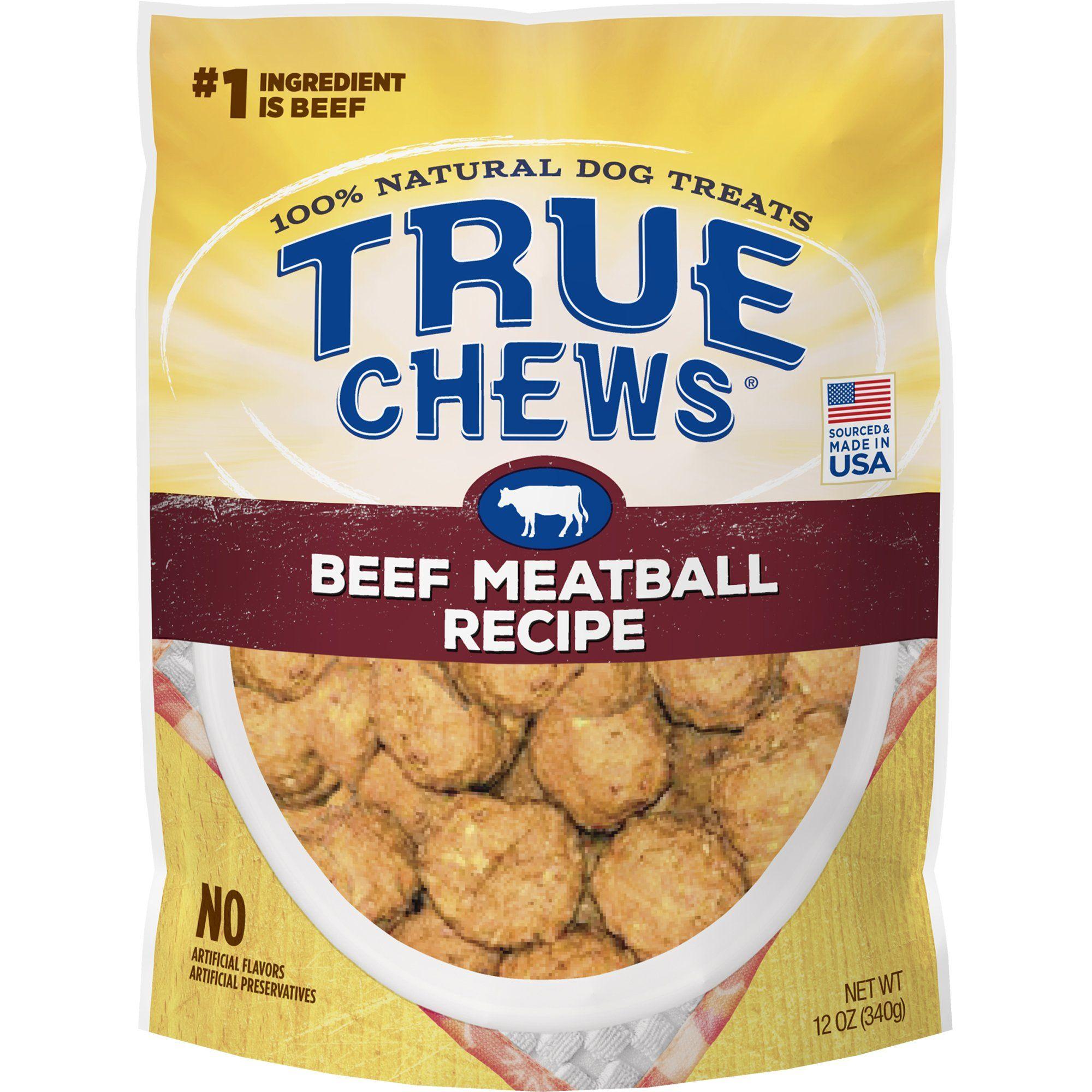 True Chews Beef Meatball Recipe Dog Treats 12 Oz In 2019 Dog