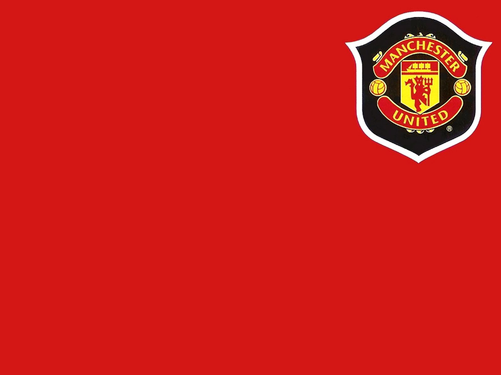 High Quality Manchester United Wallpapers: Manchester United Logo High Def Desktop Wallpapers.