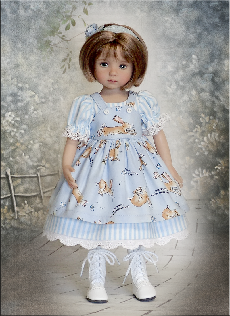 """Bunny Love by Tauni for 13"""" Effner Little Darling Betsy McCall Madame Alexander 