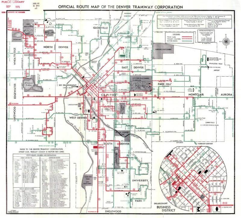 Map Of Denvers Storied Streetcar System All Things Denver - Denver map