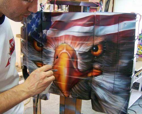 Custom airbrushing by space city airbrush houston for Airbrush car mural