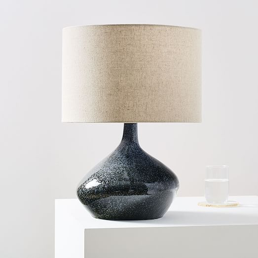Asymmetry Ceramic Table Lamp Small Speckled Moss In 2020
