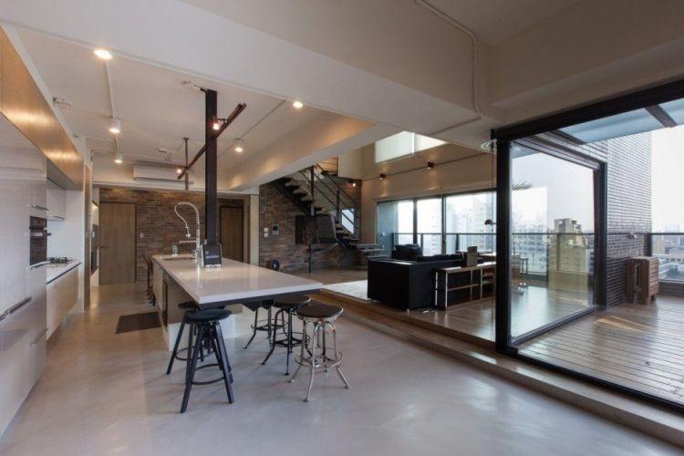 Ensemble De Salle à Manger Et Idées De Décoration Réussie Style - Salle a manger style loft pour idees de deco de cuisine