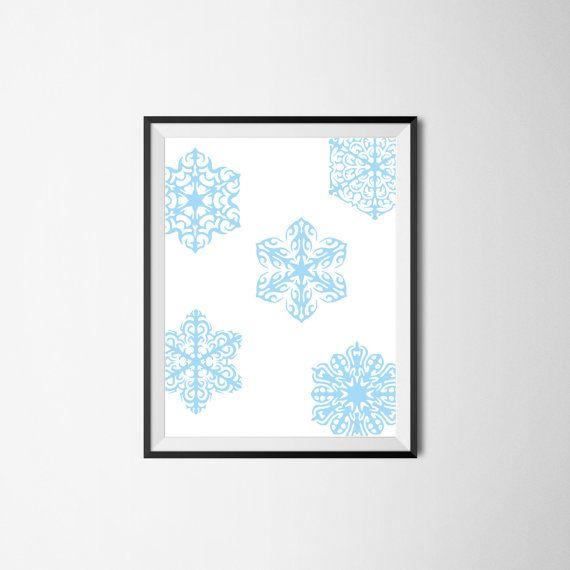 Snowflake Print / Digital Print / Printable Art / Christmas Decor Print / Digital Art / Modern Minimalist / Home Decor / Gift Idea