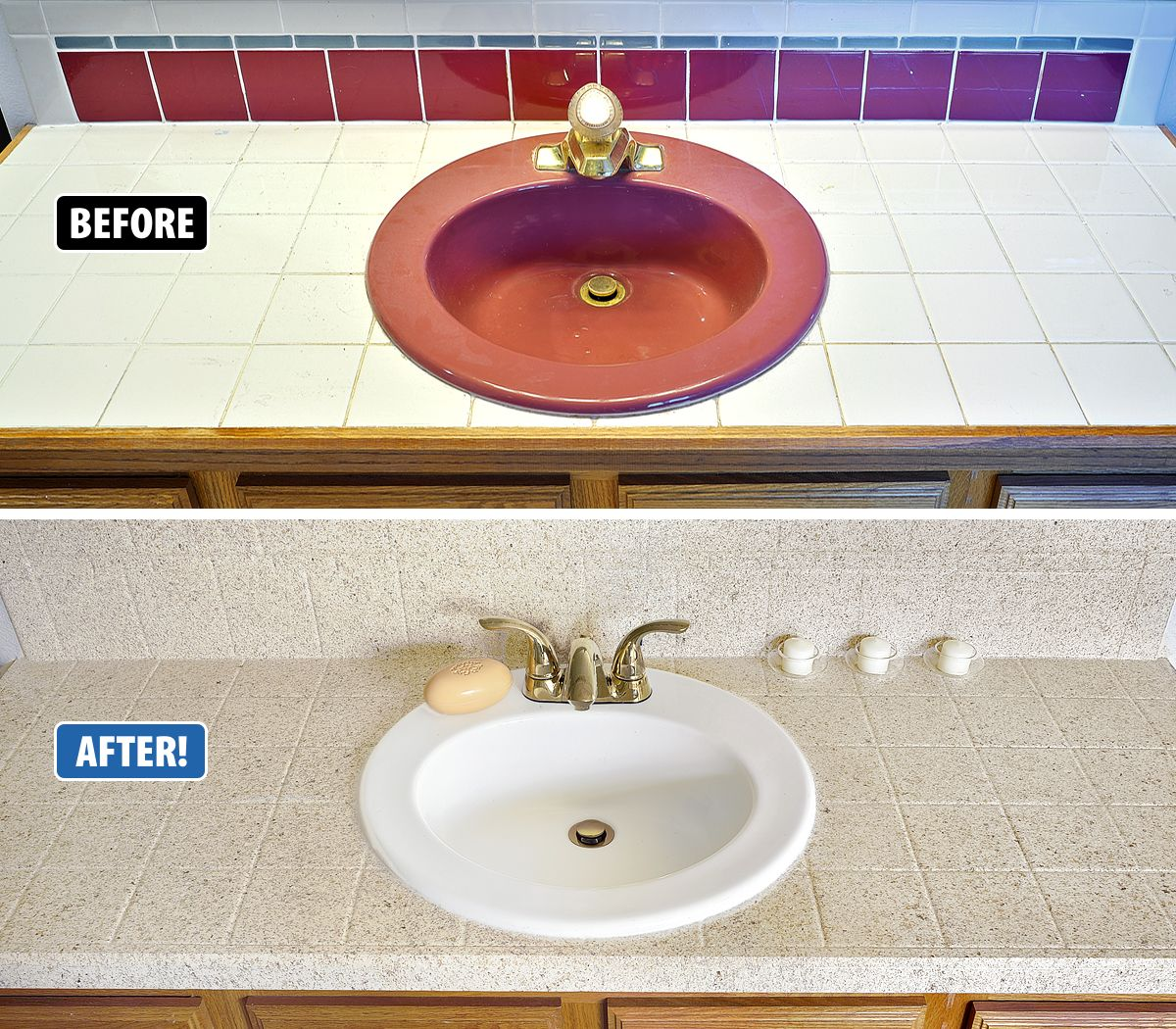 This Sink And Tile Vanity Were Out Of Date And Impossible To Clean