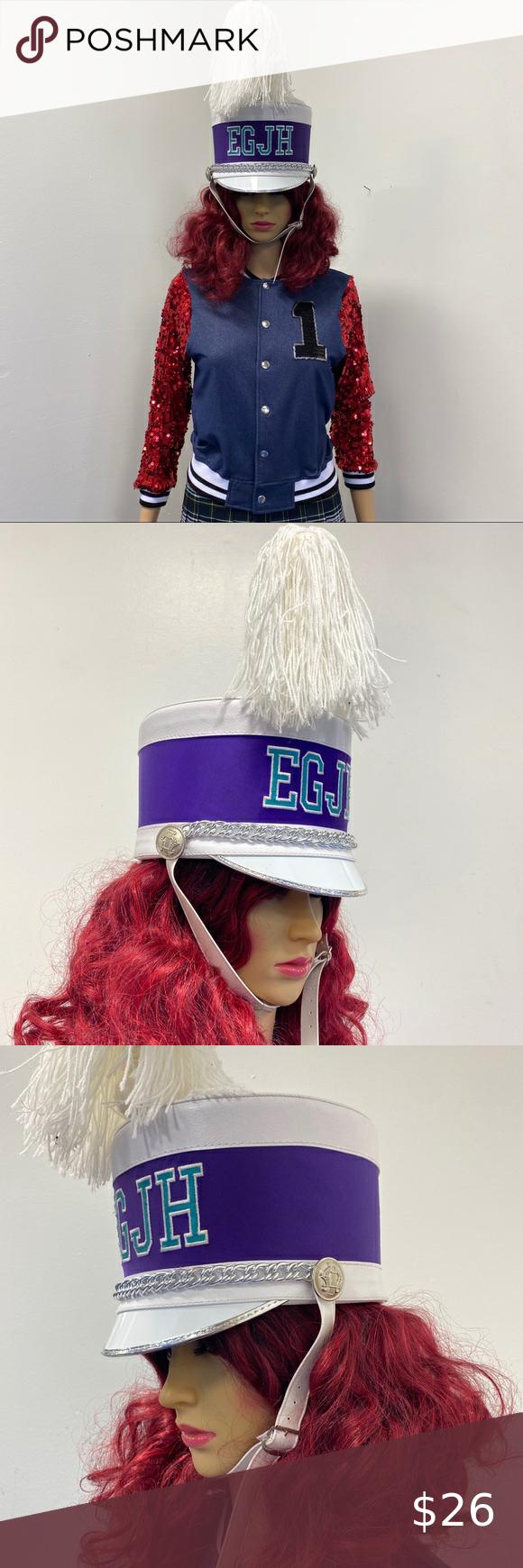 Vintage Marching Band Majorette Hat With Plume Costume Accessories Majorette Clothes Design
