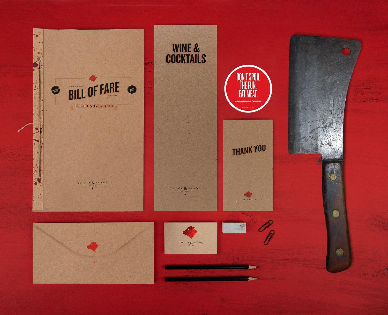 Chuck & Blade restaurant branding by Jenna Josepher and Jackson Cook