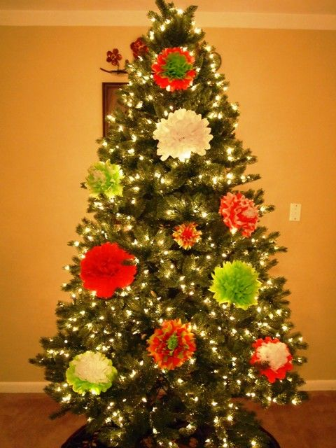 How To Make Tissue Paper Flower Ornaments For Your Christmas Tree