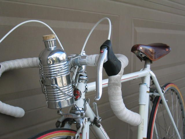 fa9ecaefa Bottle cage from a Schwinn Sprint  similar bottles apparently go for  150+  eBay. Replicate with a Kleen Kanteen wrapped in shellacked twine and with a  ...