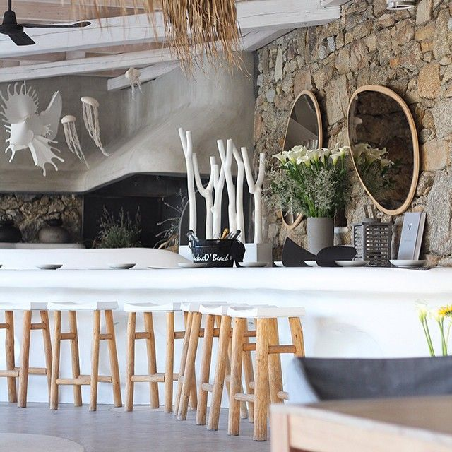 Bar And Lounge Interior Design: Jackie O' Beach Bar, Mykonos, Greece.