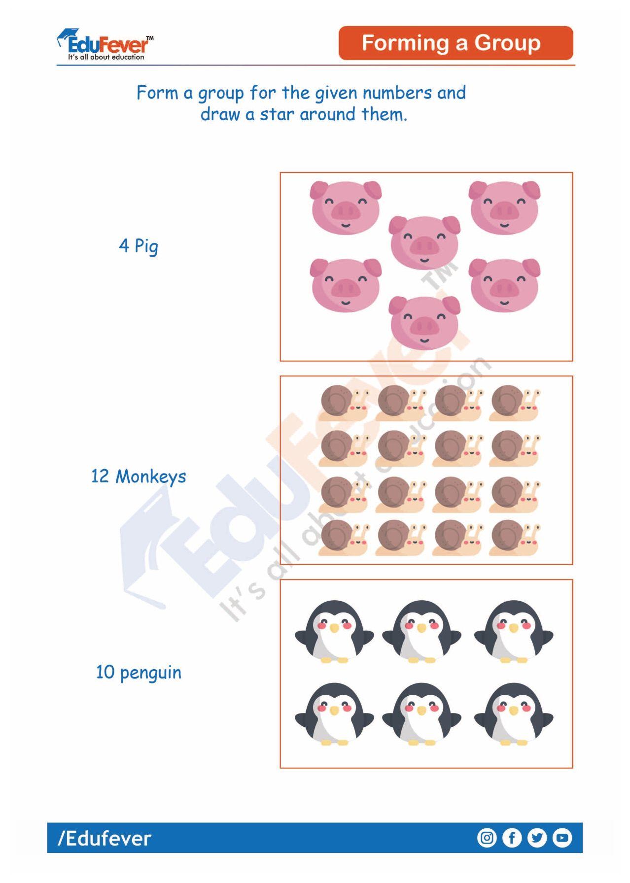 Forming A Group Ukg Maths Worksheet Number Worksheets Math Worksheet Mathematics Worksheets [ 1792 x 1278 Pixel ]