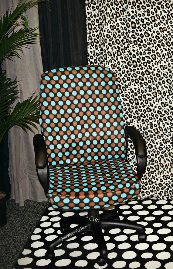 The Lucy Teal And Brown Polka Dot Chirt Custom Office