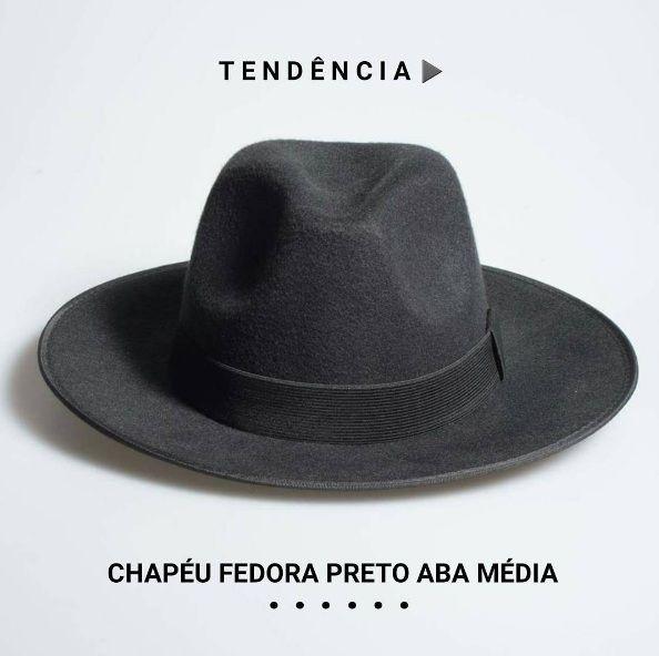 59844a7505e4f Chapéu Fedora Aba Média Tendência 2016 Código 44S6SA3FH R 99 Frete Grátis  Brasil   Crie seu estilo e  saiadocomum www.chapeueestilo.com.br fedora