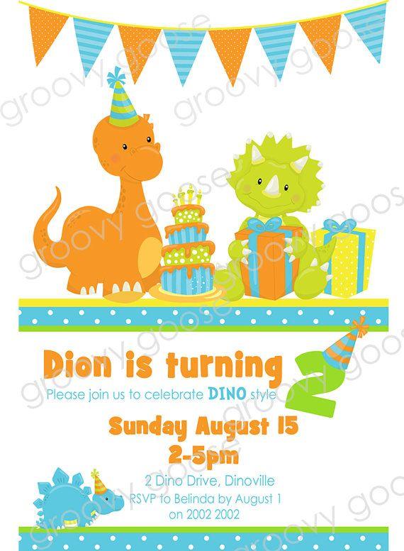 Los niños de fiesta de dinosaurios fiesta por groovygoose en Etsy