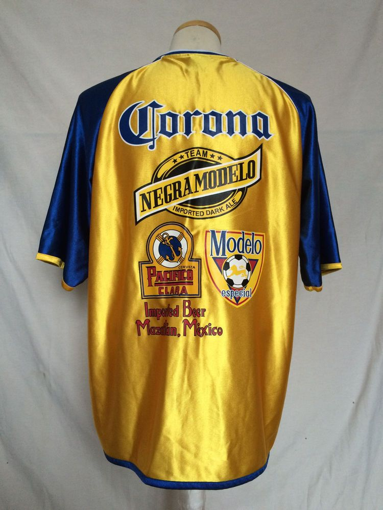 8a21cfa54 Corona Extra Beer Soccer Jersey Sz Large Yellow Blue Team Negra Modelo NWOT  #CoronaExtra. Find this Pin and ...
