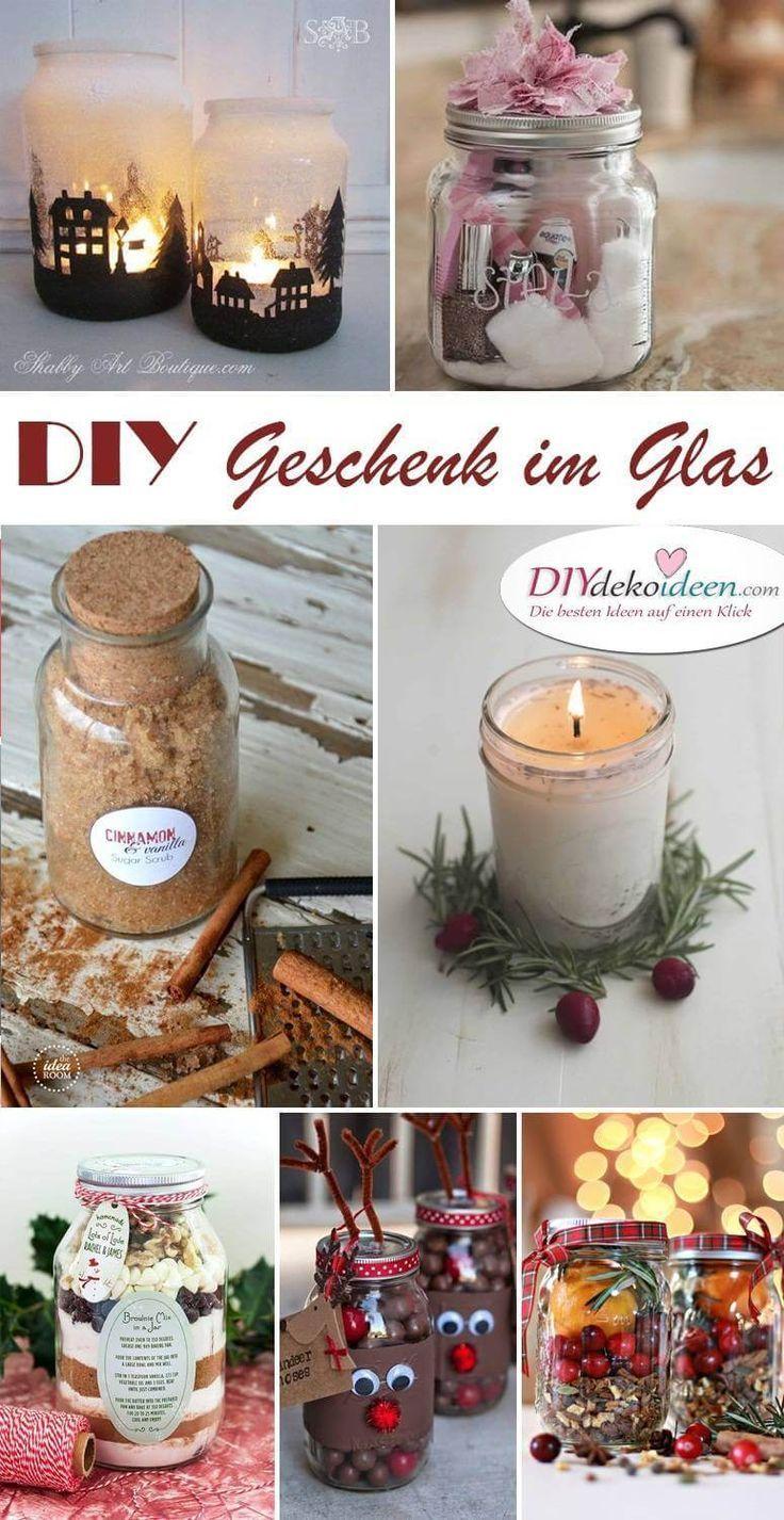 Geschenk im Glas - Weckgläser für DIY Weihnachtsgeschenkideen! #cheapgiftideas