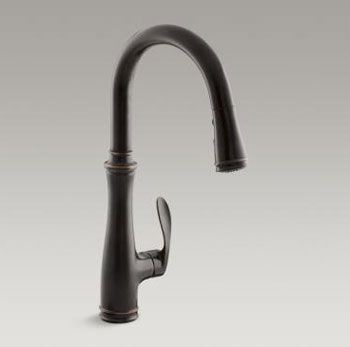 Kohler K 560 2bz Bellera Pull Down Kitchen Faucet Oil Rubbed Bronze Faucetdepot Com Kitchen Faucet Oil Rubbed Bronze Faucet Faucet