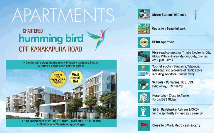 Buy 2 3 Bhk Flat In Bangalore At Chartered Hummingbird