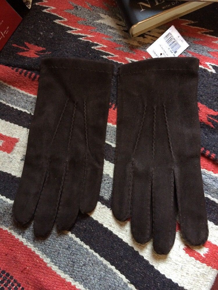 Lauren Lined Suedecashmere Nwt Ralph Purple Polo Label Gloves Italy WHE29ID