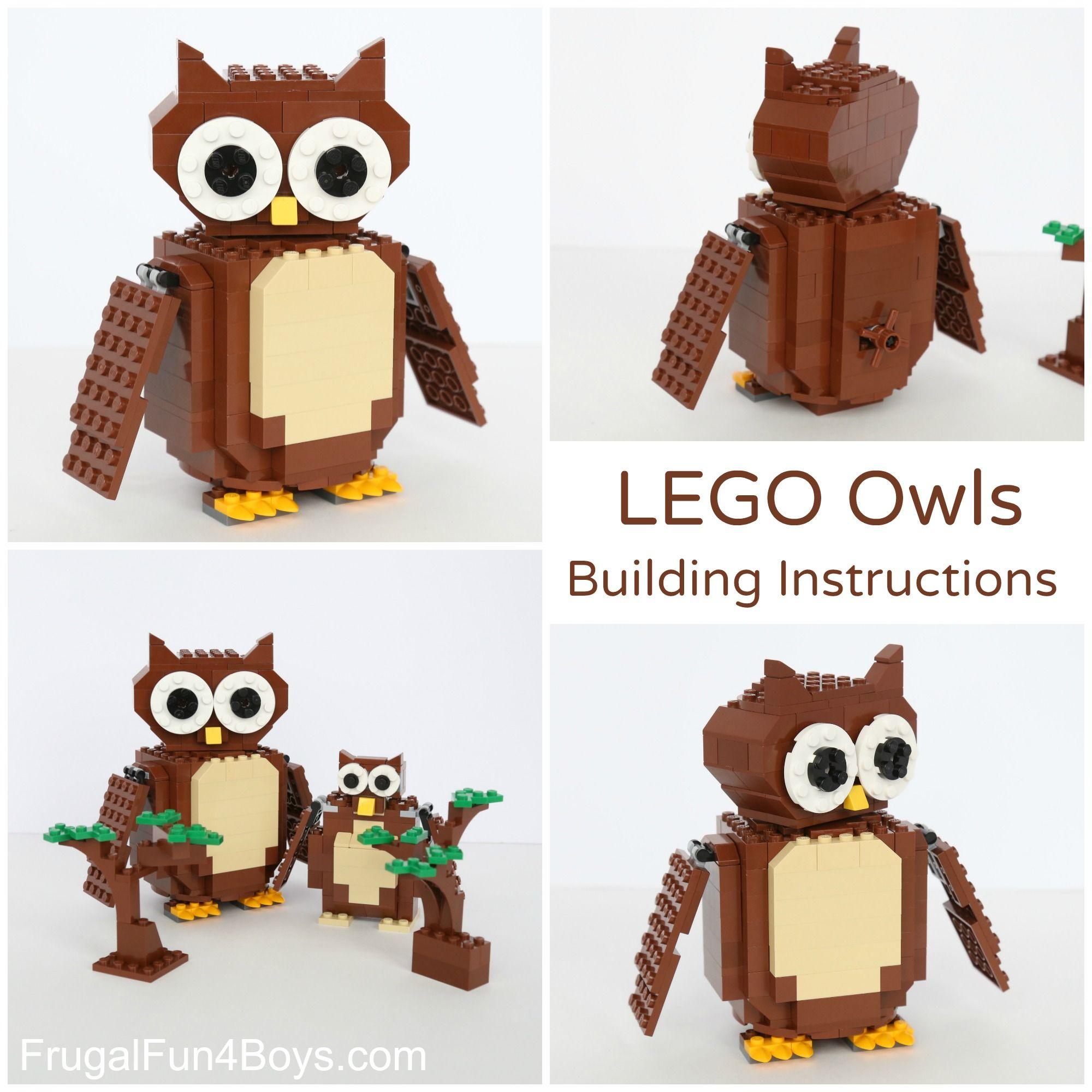 Lego Owl Building Instructions Toptoys Pinterest Lego Owl And