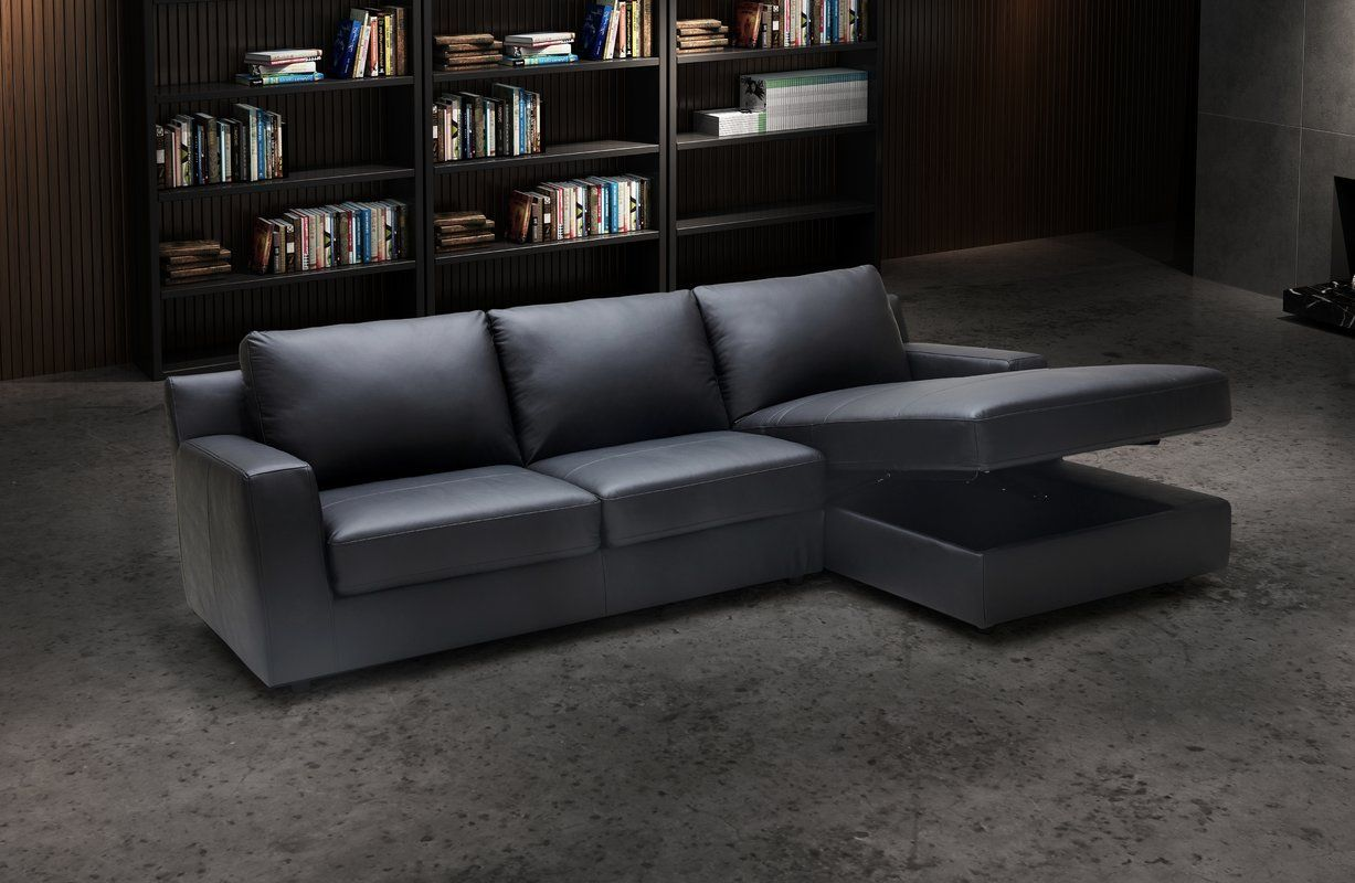 - Arguello Leather Sleeper Sectional (With Images) Leather