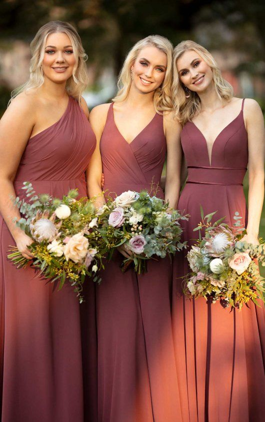 Bridesmaid Dress with Double Banded Waist - Sorella Vita