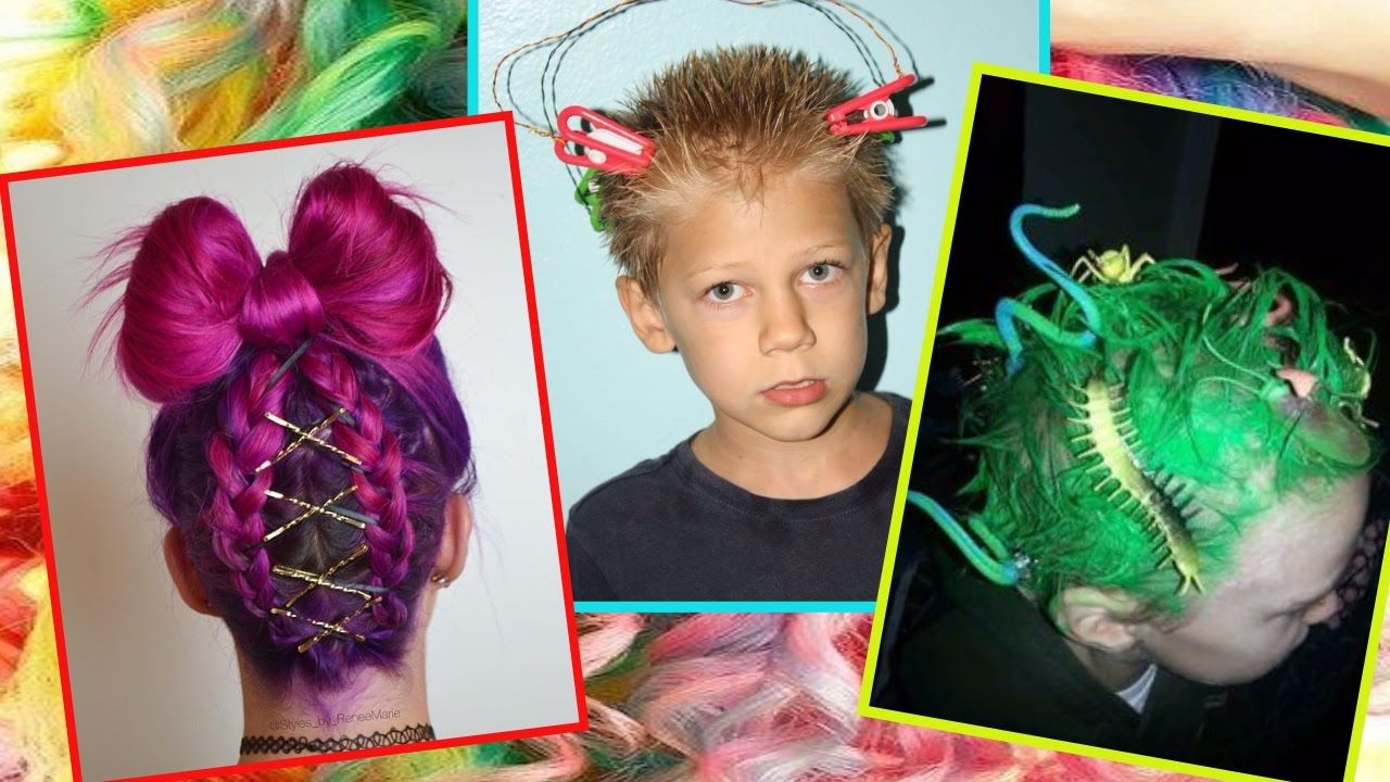 30 Ideas For Crazy Hair Day At School For Girls And Boys Crazy Hair Days Crazy Hair Crazy Hair Day At School