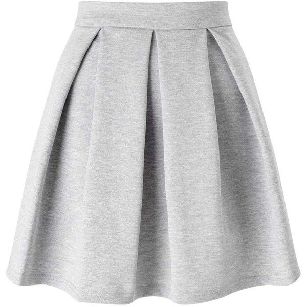 9c5519257b2f Miss Selfridge Grey Ponte Skater Skirt ( 44) ❤ liked on Polyvore featuring  skirts