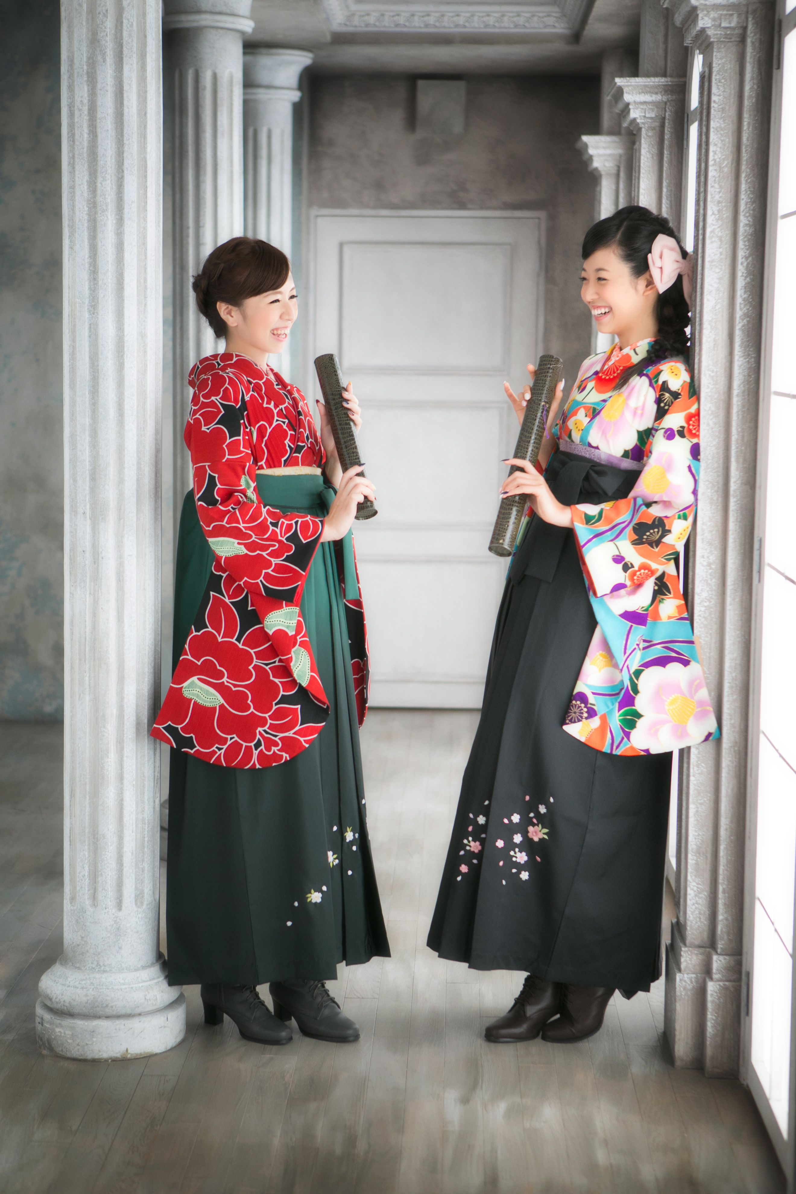 This is a hakama hakama is a divided or pleated skirt worn over a