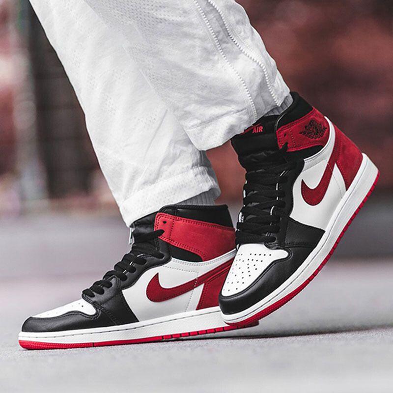 """Air Jordan 1 High OG 6 Rings """"Track Red"""" 555088-112 Red White ..."""