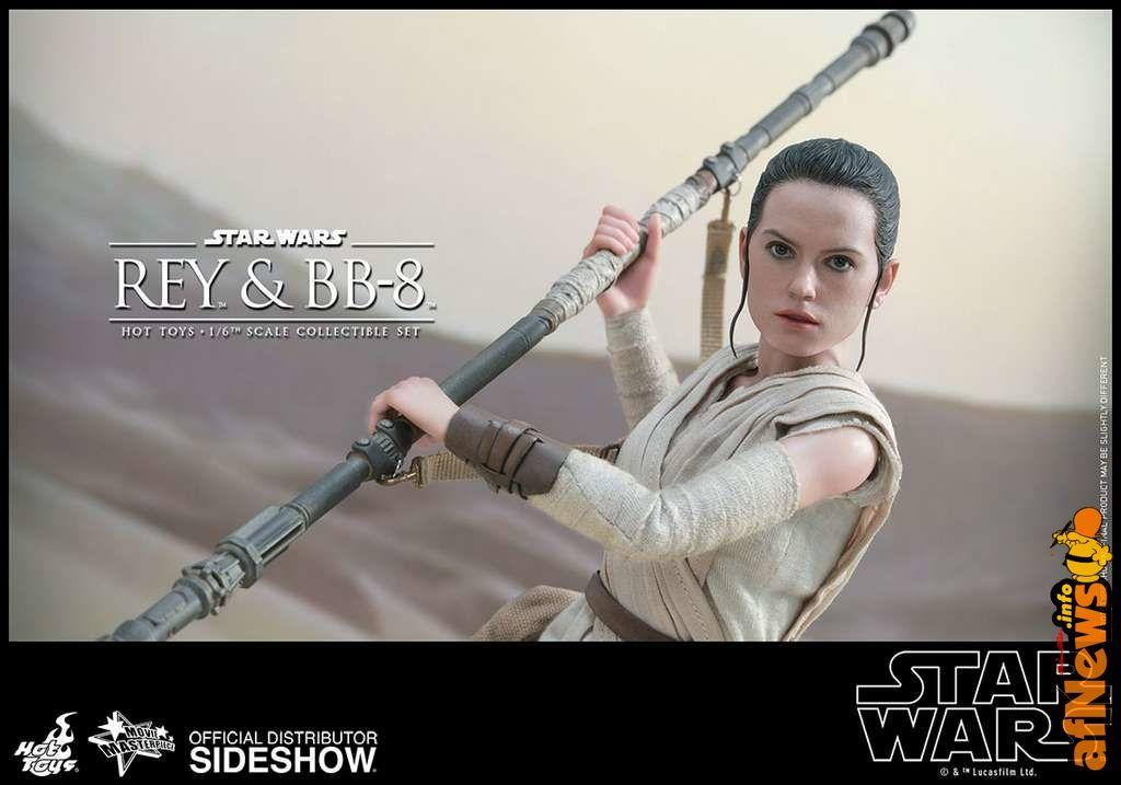 Hot Toys Star Wars: Rey e BB-8 - http://www.afnews.info/wordpress/2016/11/01/hot-toys-star-wars-rey-e-bb-8/