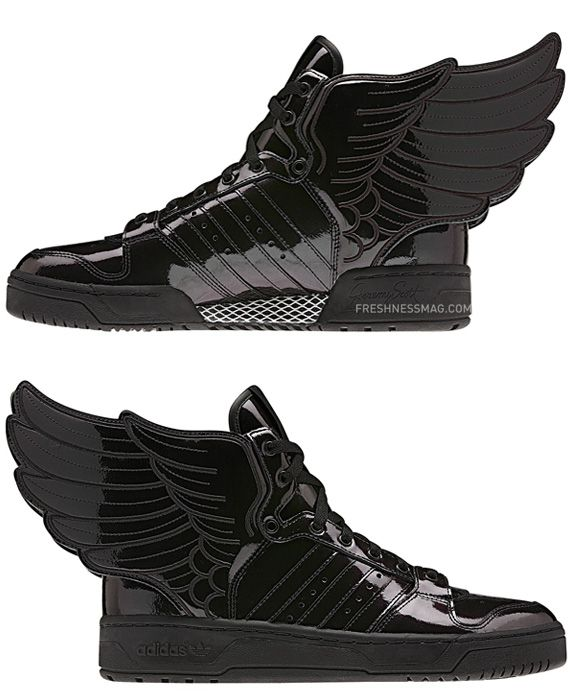 info for 419b2 074cc Jeremy Scott x adidas Originals JS Wings 2.0 Black Patent
