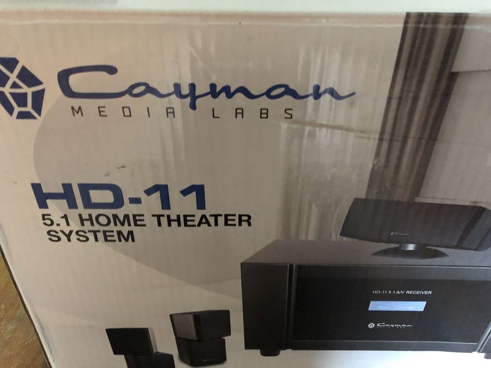 Cayman Media Labs Hd 11 5 1 Home Theater Surround Sound System 1500 Watts In Box Cayman Home Theater Setup Home Theater Surround Sound Home Theater