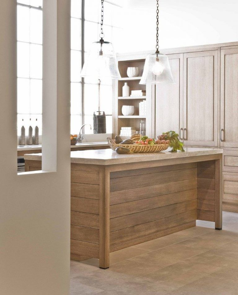 bleached oak kitchen traditional with island round ...