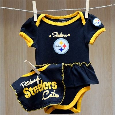 Steelers Baby Clothes Extraordinary Steelers Baby Girl Bodysuit Bib  Nfl Baby Football Clothes Design Decoration