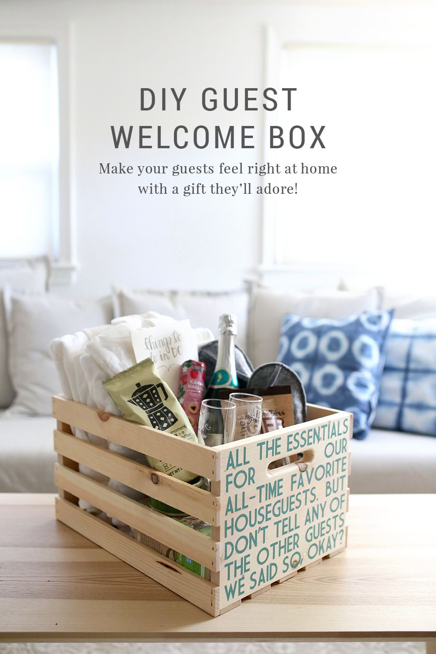 DIY Guest Welcome Box + Free Printable Template