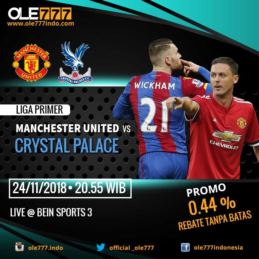 SAKSIKAN PREMIER LEAGUE MANCHESTER UNITED vs CRYSTAL