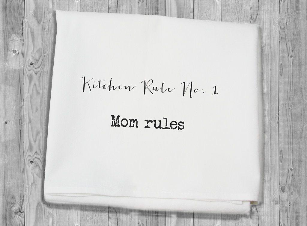 flour sack towel - Kitchen Rule number 1 #kitchenrules