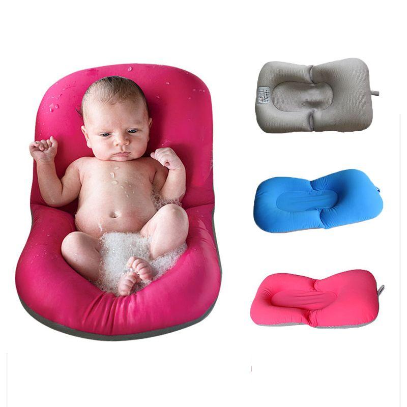 Infant Baby Bath Pad Non-Slip Bathtub Mat NewBorn Safety Security ...